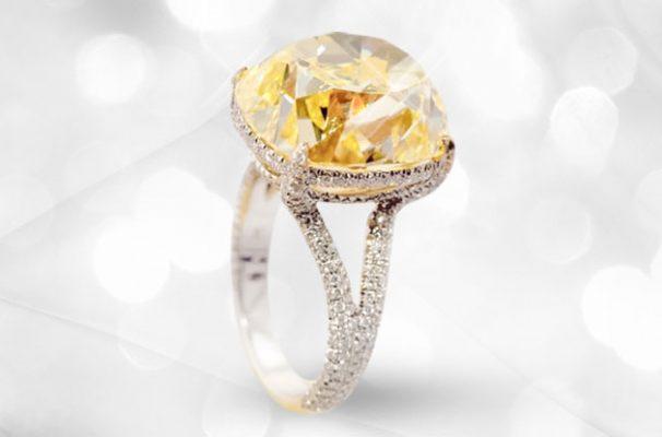 Rare 20CT Yellow Diamond Ring